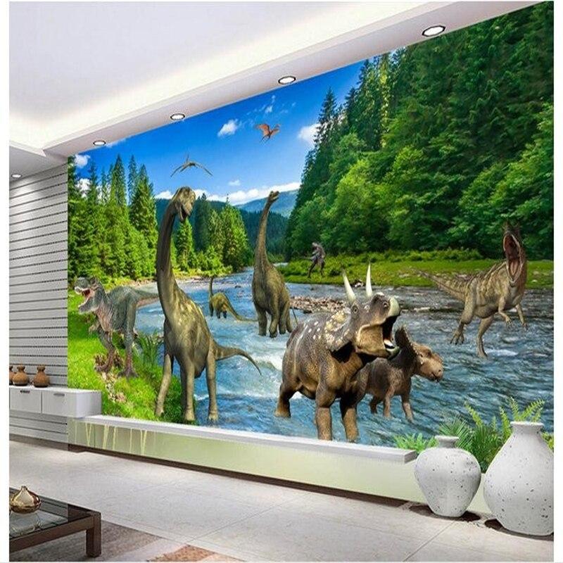 Customized 3D wallpaper 3d wall murals wallpaper 3 d hd jungle river waterfall adornment picture 3d sitting room photo wallpaper Обои