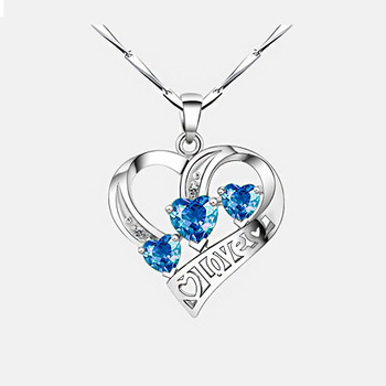 Simple Three Heart  Exquisite crystal Necklaces & Pendants  5
