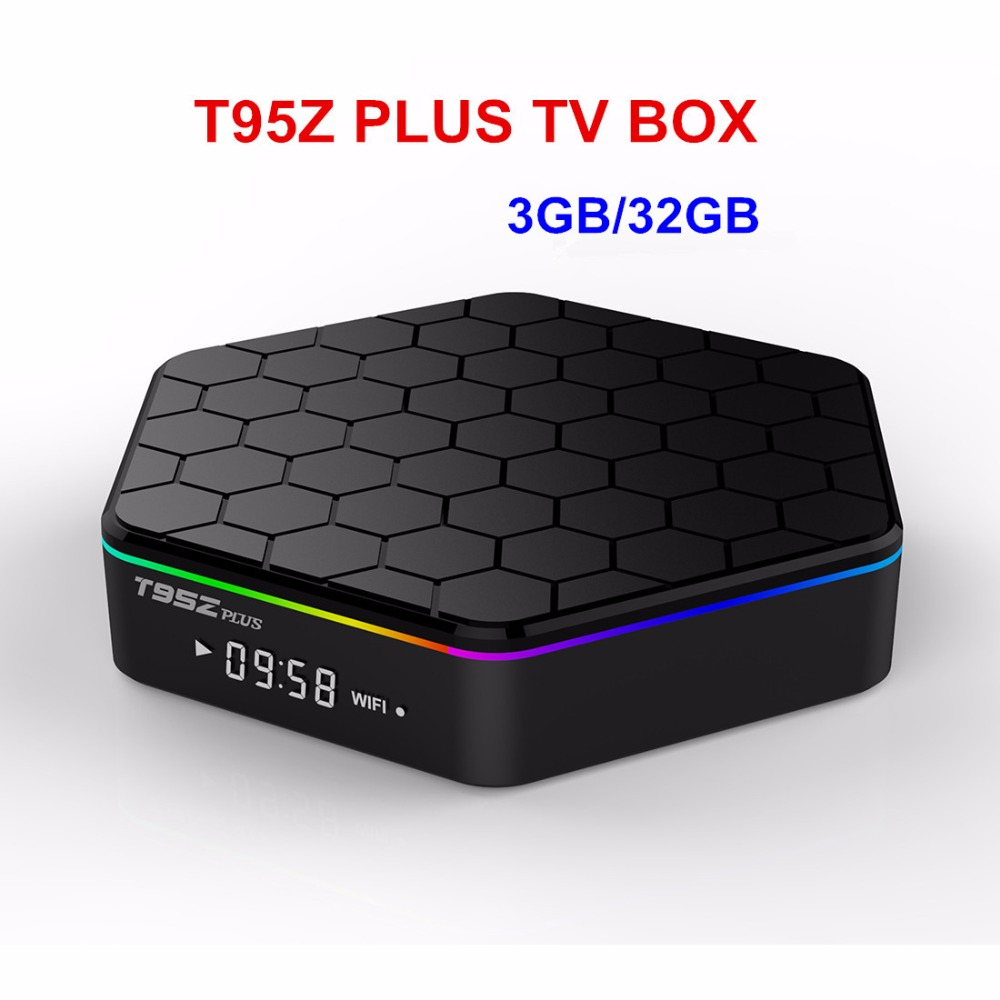 T95z плюс Android 7.1 ТВ коробка S912 Восьмиядерный cortex-a53 3G/32 г 2.4 г + 5 г двойной Wi-Fi Bluetooth gigabit media player