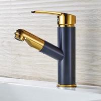 New Antique Brass Finish Luxury Artistic Single Handle Bathroom Sink Faucet Mixer Taps 2210501