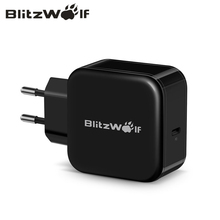 BlitzWolf 30W USB Type C Mobile Phone Charger PD+QC3.0 Fast Charger EU/AU Adapter Wall Travel Charger For iPhone 11 X Pro Max 8