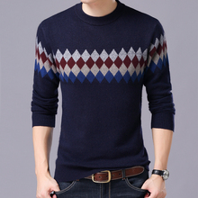 2017 New Autumn winter  new models round neck long-sleeved men's sweater pullover thin coat Men's Clothing Sweaters