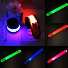 Нейлоновый светодиодный ремешок на запястье свет на браслете светящийся браслет Праздничные и вечерние принадлежности креативные детские игрушки