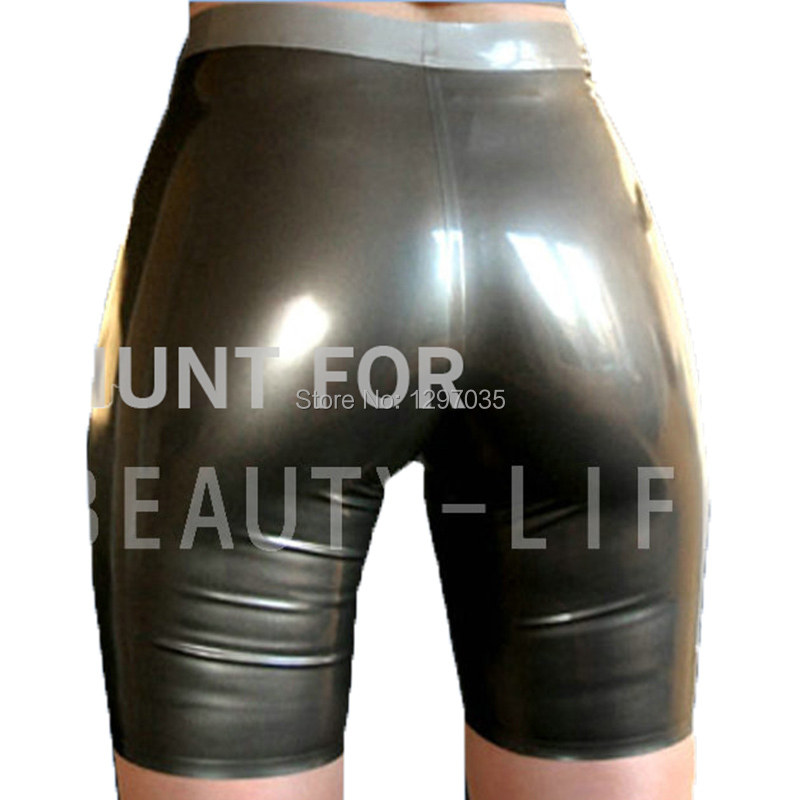 Latex-Costume Shortstight Sexy Plus-Size Woman Hot for Show Your Customizable 100%Natural