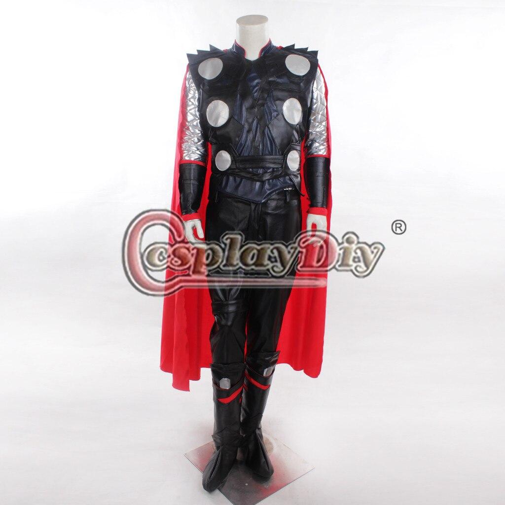 Косплэй DIY КИНО Тор Костюм наряд Super Hero взрослых Для мужчин Хэллоуин Делюкс Косплэй костюм Индивидуальный заказ d0602