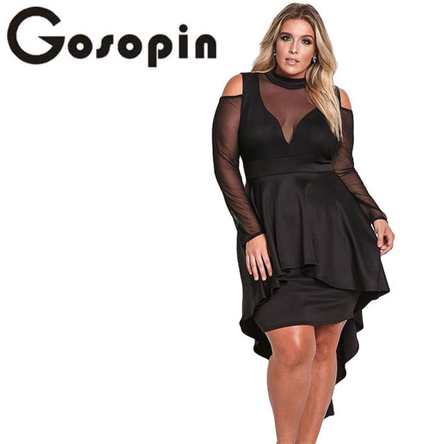 Online Shop Gosopin Plus Size Women Sexy Party Long Sleeve Cold