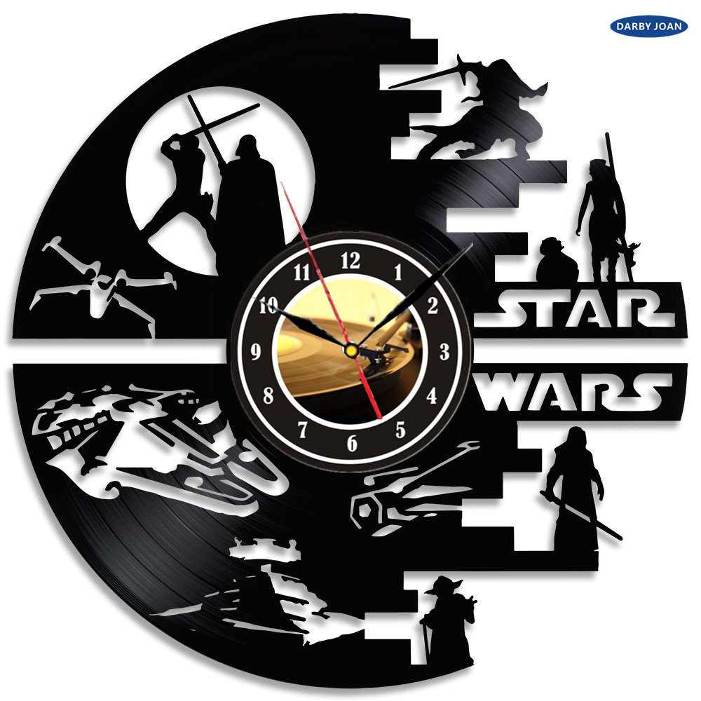 hot creative clock cd vinyl record wall clock movie star. Black Bedroom Furniture Sets. Home Design Ideas