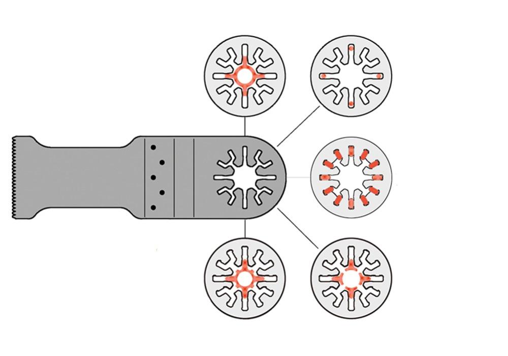 5 piezas bimetálicas 32mm herramientas oscilantes universales - Hojas de sierra - foto 5