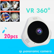 20pcs wholesale  ip panoramic  wireless camera wifi  cctv for smart phone onvif  sd memory card  audio speaker v380 recorder VR
