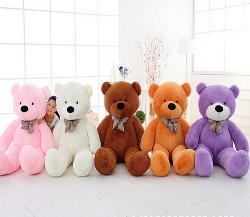 1Pcs 39100cm Giant Teddy Bear Plush Toys Stuffed Teddy Bear Cheap Pirce Gifts for Kids Girlfriends Christmas Kawaii Plush Toys 2018 huge giant plush bed kawaii bear pillow stuffed monkey frog toys frog peluche gigante peluches de animales gigantes 50t0424