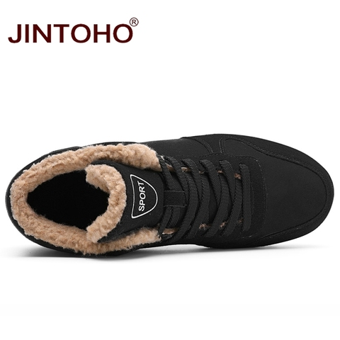 JINTOHO Big Size Unisex Winter Snow Shoes Brand Men Winter Boots Warm Snow Boots For Men Fashion Casual Male Shoes Ankle Boots Islamabad