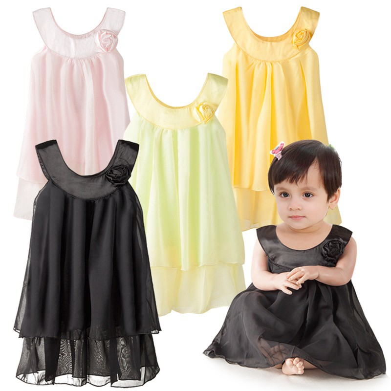 Baby girls Princess dress wedding dress summer Fashion Sleeveless Round neck lace gauze dress infant girls clothes bebes dresses