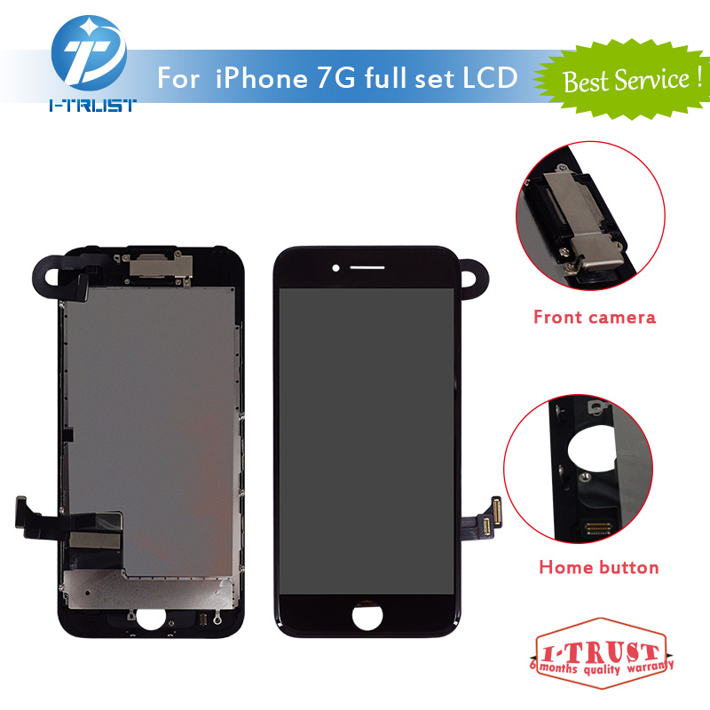 Lcd-Or-Display Phone-Replacement iPhone 7 Digitizer Touch-Screen Front-Camera 100pcs
