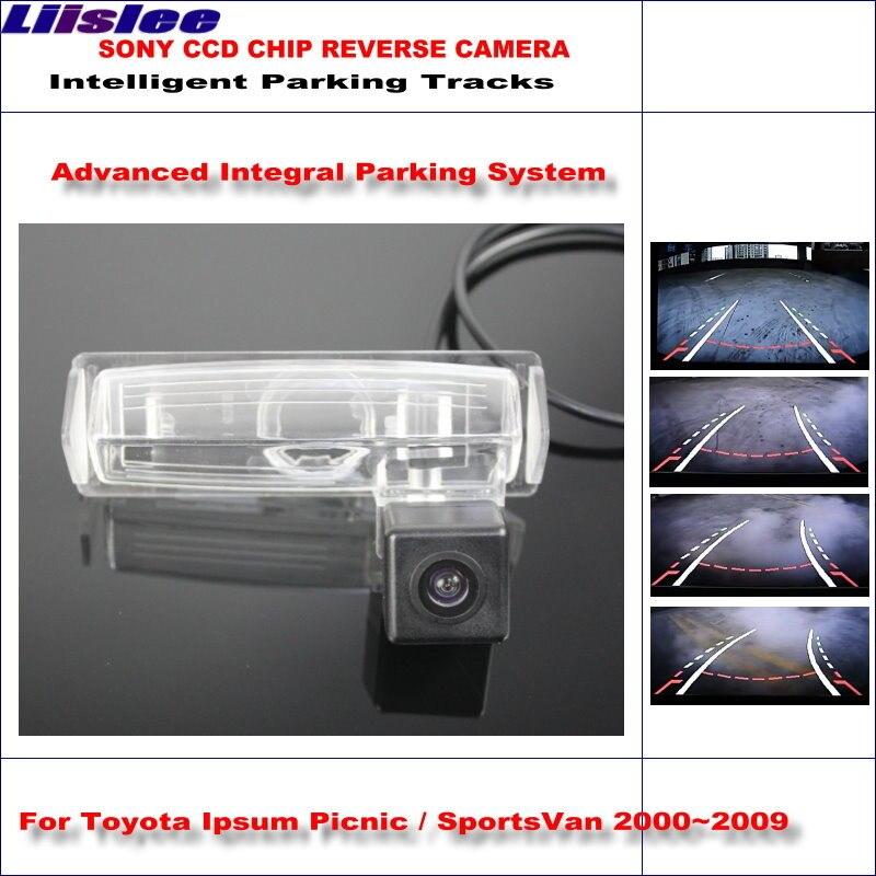 Liislee Intelligent Parking Tracks Rear Camera For Toyota Ipsum Picnic SportsVan 2000-2009 Reverse NTSC RCA AUX HD SONY CCD цена 2017