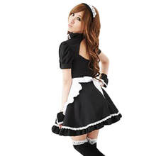 Sexy Maid Costume Cosplay Four Pieces Role Playing Clothing Woman Adult Disguisement Disfraces for Femme Cute Garment CA659