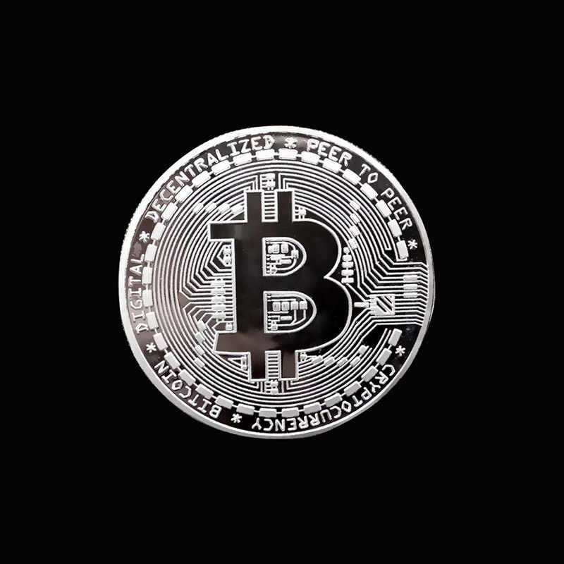 Gold Plated ทางกายภาพ Bitcoins Bit เหรียญ BTC พร้อมของขวัญทางกายภาพโลหะโบราณเลียนแบบ BTC Coin Art Collection