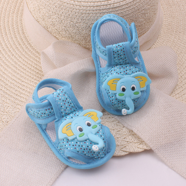 J Ghee Baby Boy Baby Girl First Walkers Summer Little Kids Shoes Toddler Children Shoes Baby Shoes Elephant Cartoon Summer Shoes