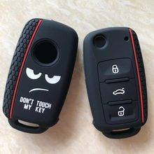 Dont Touch My Key Silicone Keyless Remote Cap Cover For VW Caddy Golf Jetta Polo Passat Scirocco Tiguan For Skoda Octavia Seat(China)