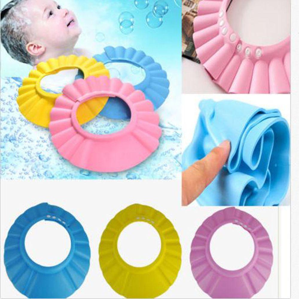 Baby Shower Caps Shampoo Cap Kids Wash Hair Bath Visor Hats Adjustable Waterproof Soft Shower Hat