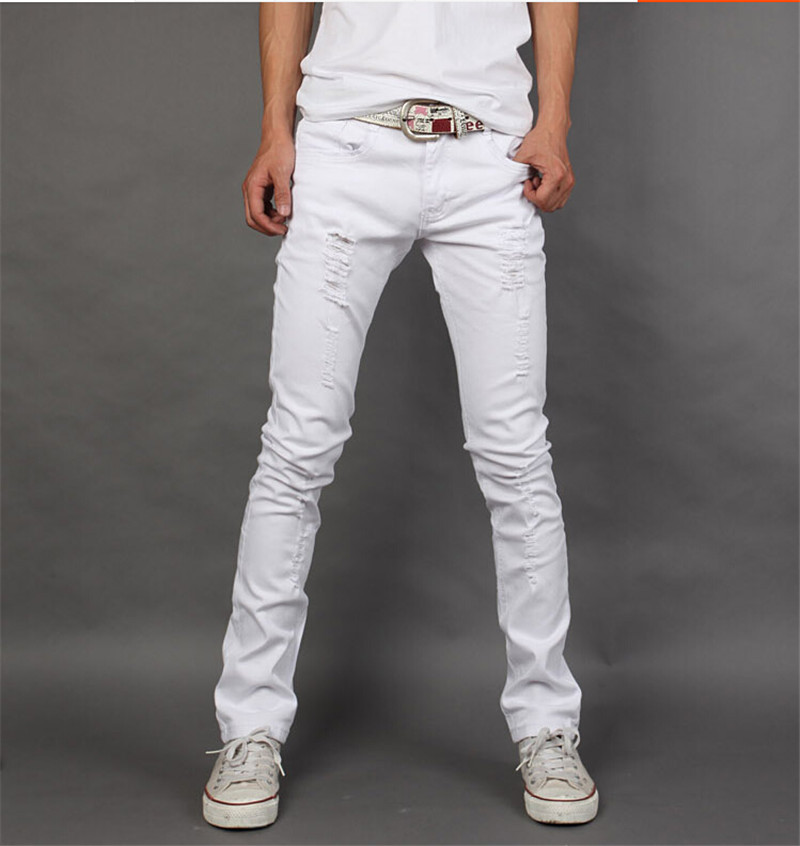 Online Buy Wholesale wear white jeans men from China wear white ...