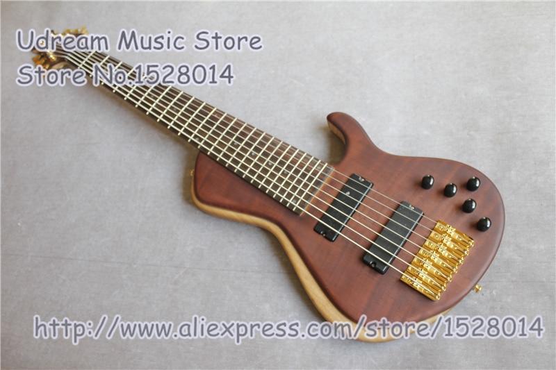 Magasin personnalisé 7 cordes Suneye basse électrique guitares chine or matériel basse à vendre