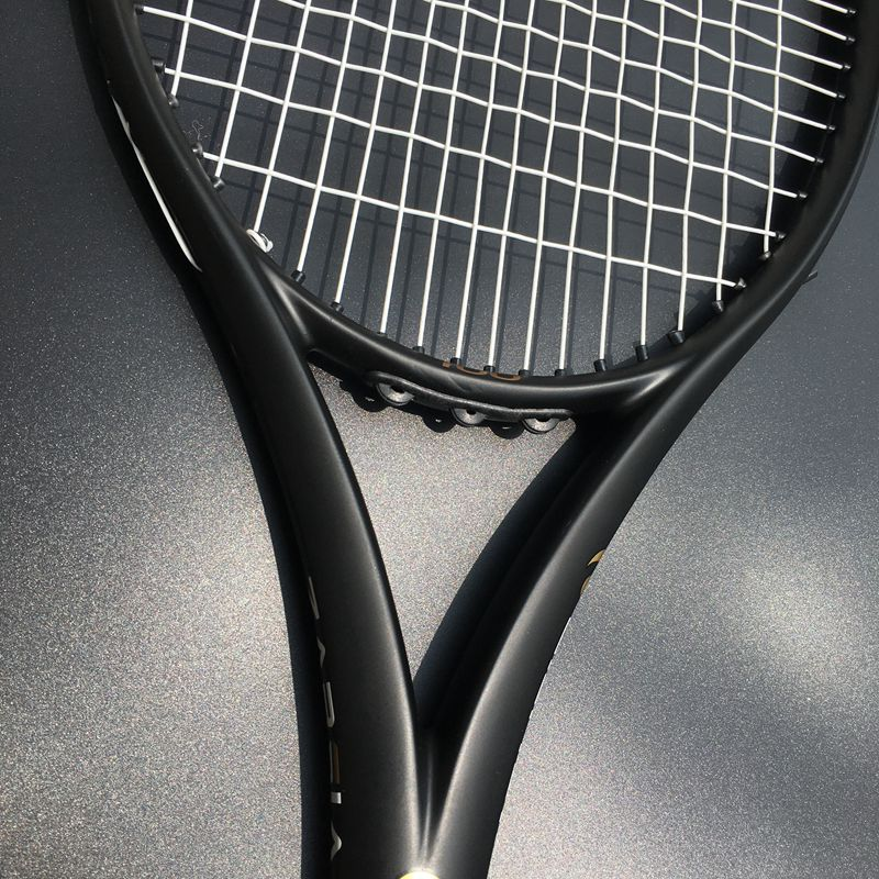 ZARSIA Custom taiwan Tennis racket 100sq.in 300g 16x19 Black tennis racquet 100% carbon foamed handle with bag цена