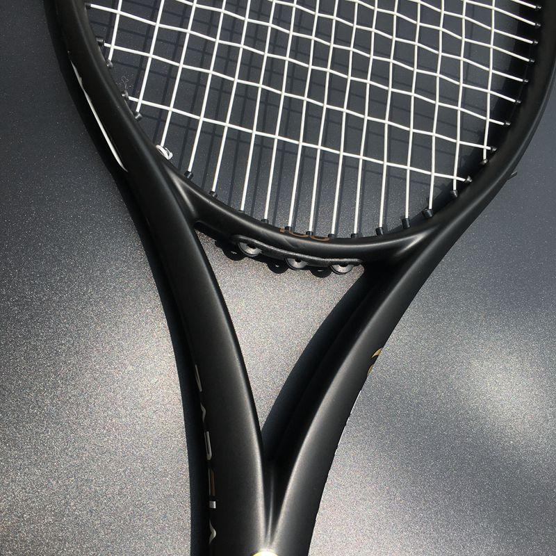 ZARSIA Personnalisé taiwan raquette de Tennis 100sq. dans 300g 16x19 Noir tennis raquette 100% carbone poignée en mousse avec sac