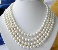 Горячая продажа 100 дюймов 9 10 мм Южное море белое жемчужное ожерелье, чокер