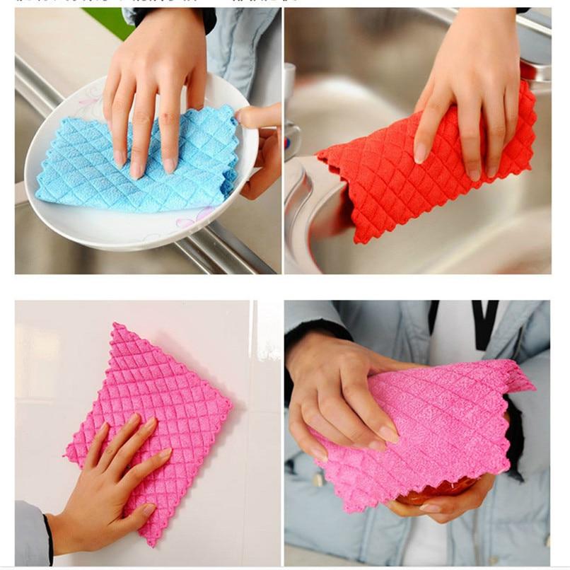 Bamboo Kitchen Towels Wholesale: Anti Grease Cloth Bamboo Fiber Washing Towel Magic Kitchen