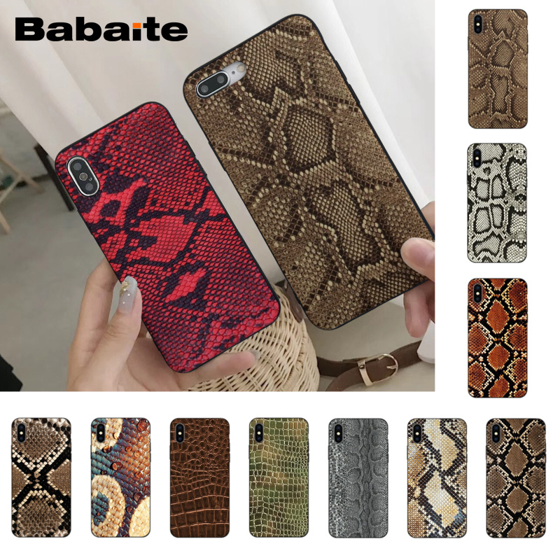Babaite Snake Skin Adorable Colored Drawing Phone Accessories Case for