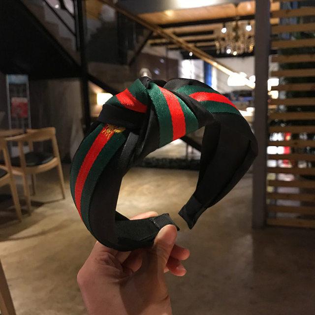 Korea Style Hair Accessories Tartan Design Headband Girl Hair Bands 1