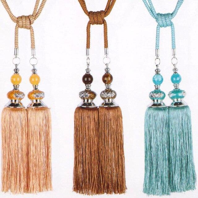 Золотой тыквы новые один Jade Кристалл Мода висит шар Шторы кисточкой продавать фабрики окантовкой простыня галстук назад кистями Best