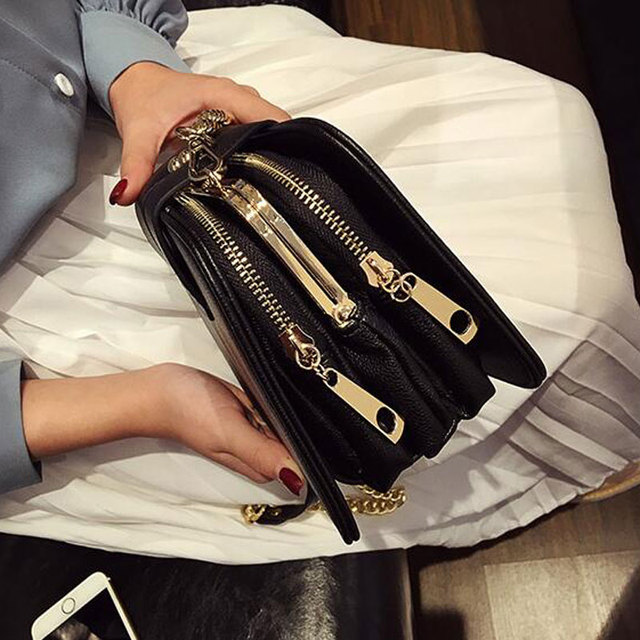 2018 Spring New Fashion Women Shoulder Bag Chain Strap Flap Designer Handbags Clutch Bag Ladies Messenger Bags With Metal Buckle