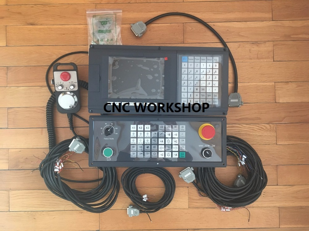 2 Axis New Version English Panel MPG CNC controller for lathe and grinding machine stepper servo G-code with side panel and MPG men cut and sew panel tape side tee