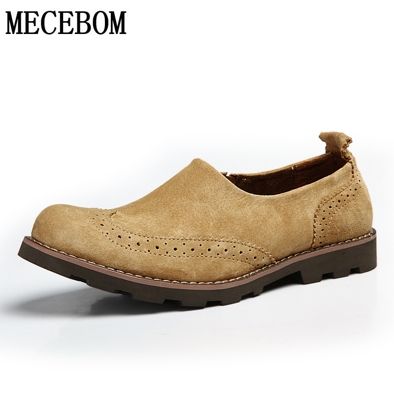 Men's brogue shoes leisure genuine leather shoes slip-on men loafers zapatos masculino size 38-44 9503m pl us size 38 47 handmade genuine leather mens shoes casual men loafers fashion breathable driving shoes slip on moccasins
