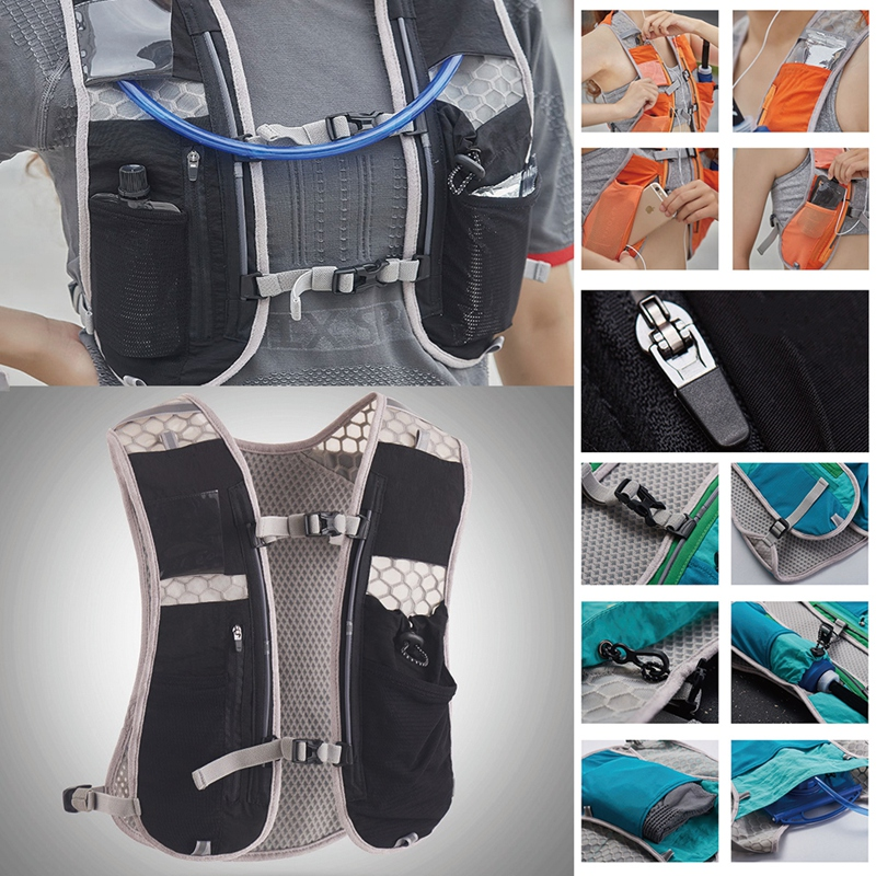 Outdoor Running Vest Quick-Dry Breathable Phone Bag Hydration Backpack Accessories running vest with pockets hydration pack