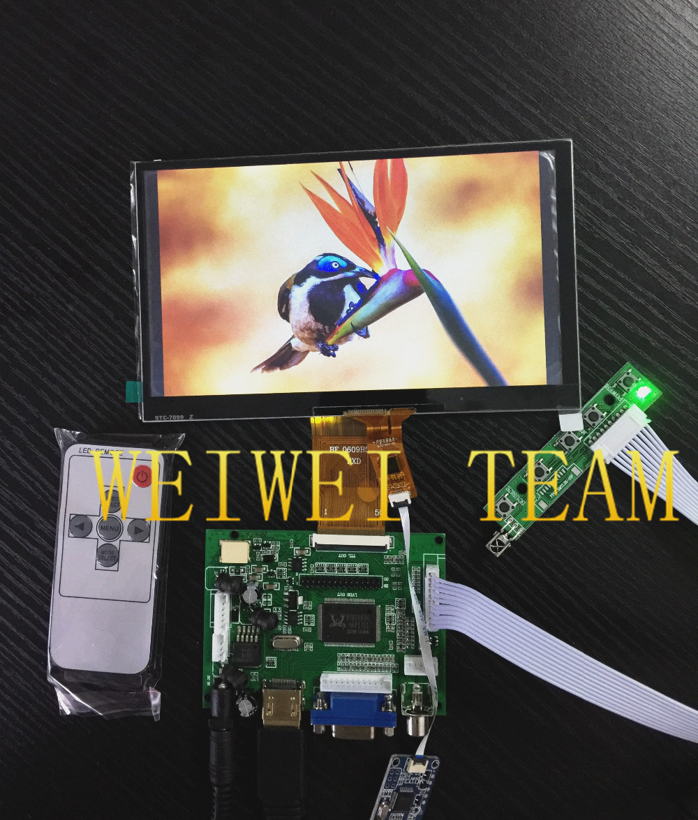7 0 inch 1024 600 TFT LCD Display Monitor Touch Screen with Driver Board HDMI VGA