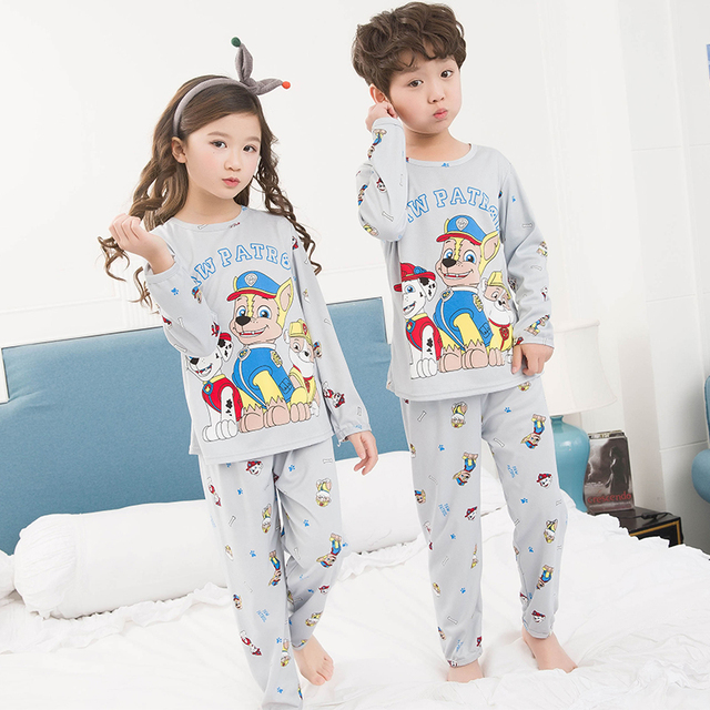 Autumn Winter 2018 New Kids Long Sleeved Pajamas Sets Girls Pajama Boys  Sleepwear Tops Children Cartoon 1a58aca05