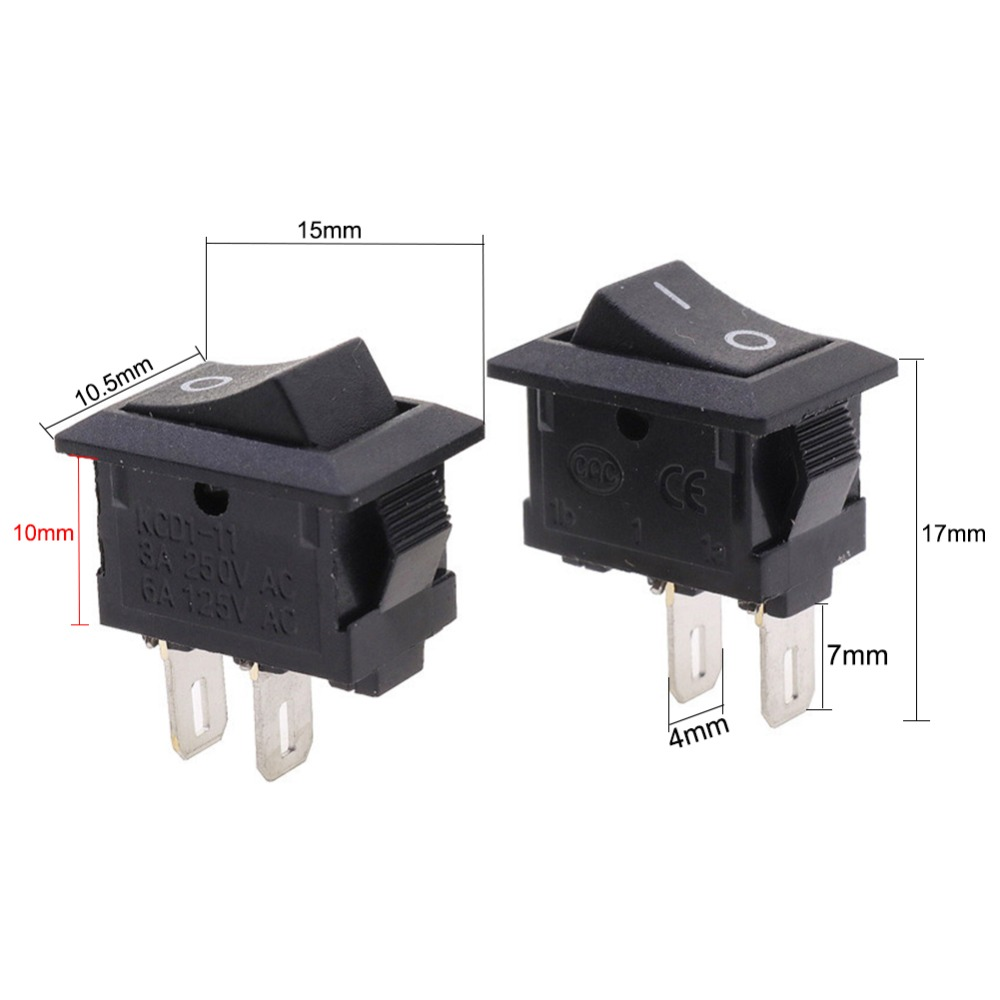 20pcs Lot 1015mm Spst 2pin On Off G130 Boat Rocker Switch 3a 250v Toggle Switches 20 Amp Screw Terminal Onoff Car Dash Dashboard Truck Rv Atv Home Ce Certification In From Lights Lighting