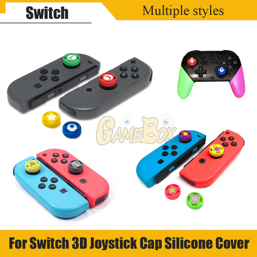 4 pcs Analog Thumb Grips Caps for Nintend Switch NS JoyCon Controller Sticks Cap Skin for Joy Con Joycons Joystick Cover(China)