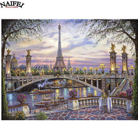 5D DIY Diamond Embroidery Landscape Paris Eiffel Tower Diamond Painting Cross Stitch Full Drill Rhinestone Mosaic