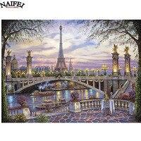 5D DIY Diamond Embroidery Landscape Paris Eiffel Tower Diamond Painting Cross Stitch Full Drill Rhinestone Mosaic
