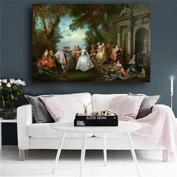 Noble Born European in The 17th Century Painting Printed on Canvas 1