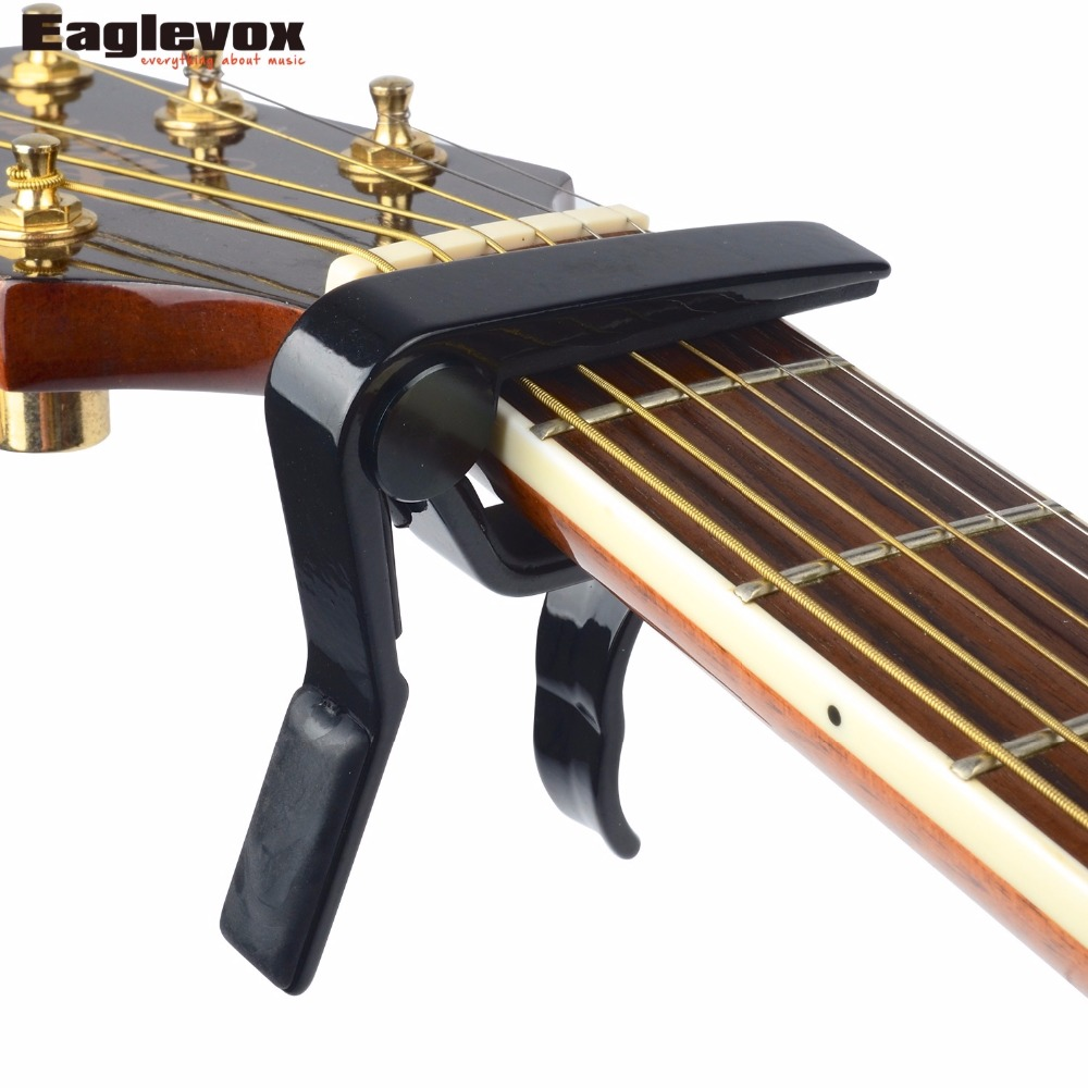 Top Quality Guitar Capo Guitarra Capotraste Made of Aluminum Alloy Life-Time Warranty Strong Spring A007D/BK-A alloy classical guitar capo black silver