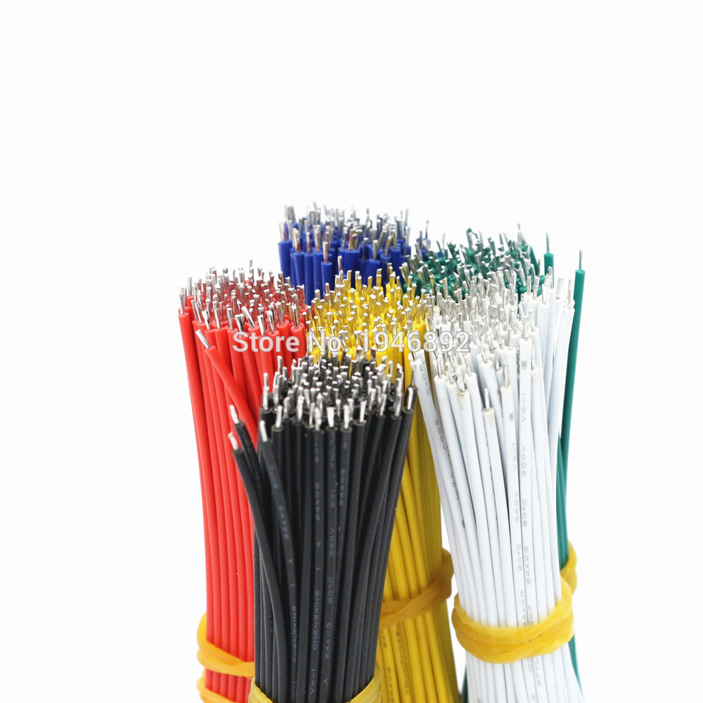 100pcs/lot 24AWG-10cm UL 1007 Double Head Tinned Cable solder cable Fly jumper wire cable Electronic Wire huaras suedue 100pcs lot stainless steel cable tie 7 9x1200 for wire cable