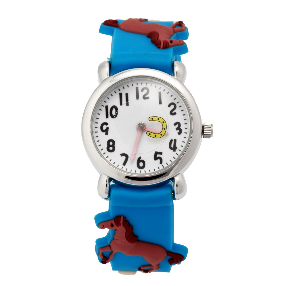 Mance cartoon 3D Horse Women kids gifts watches silicone Band  Analog Quartz Wrist Watch relojes mujer Gift 2016 Hot Sale mance women mens watches best brands luxury ladies leather band analog quartz wrist watch relojes mujer 2016 hot sale unisex