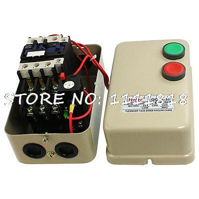 110V Coil AC Contactor 11KW 15 HP Three 3 Phase Motor Magnetic Starter 14-22A chint electromagnetism starter magnetic force starter qc36 10t motor starter phase protect magnetic force switch