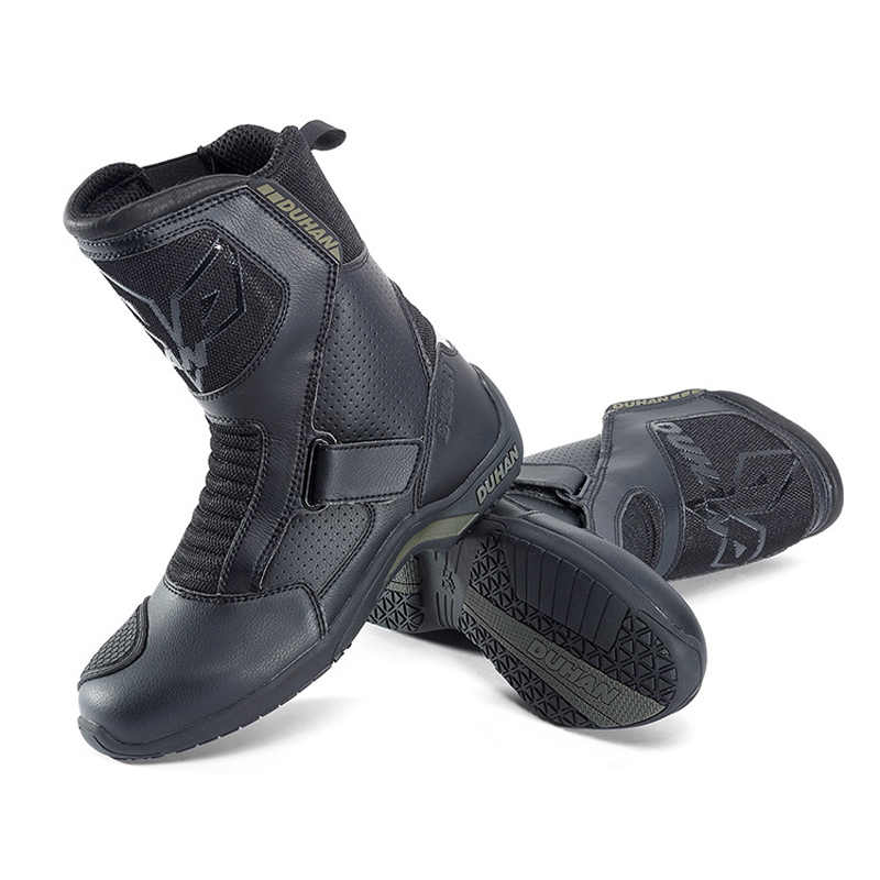 58e6733d16b ... DUHAN Touring Motorcycle Boots Motocross Road Racing Motorbike Shoes Bota  Motociclista Moto Motorcycle Riding Boots ...