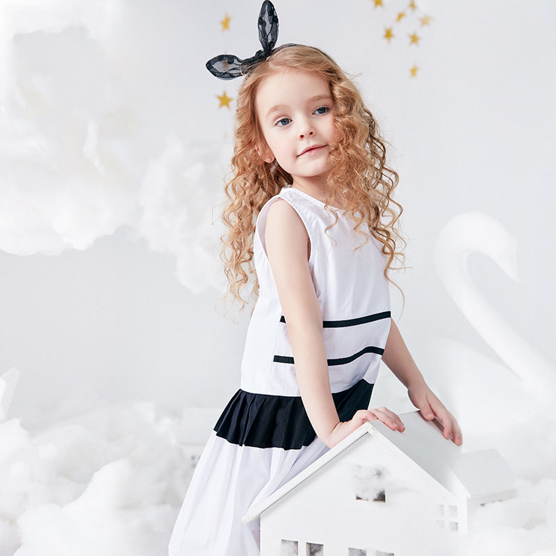 Girls summer dress 2019 new summer Korean version of the baby baby dress fashion casual childrens dressGirls summer dress 2019 new summer Korean version of the baby baby dress fashion casual childrens dress