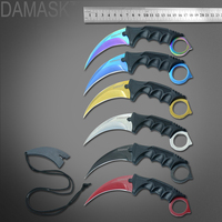 Damask CS GO Counter Strike Machetes Karambit Knife Tactical Outdoor Survival Hand Tools 6 Pcs Set